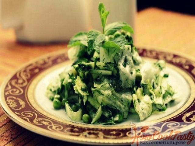 Зеленый восточный салат