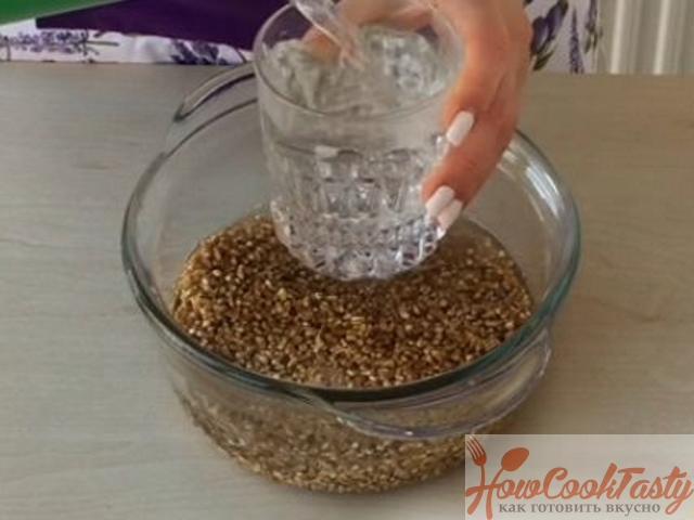 промываем пшеницу
