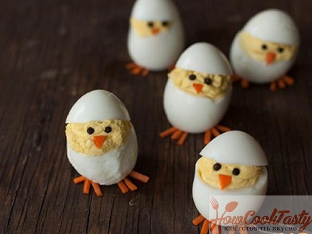 Цыплята из яйца — Рецепт
