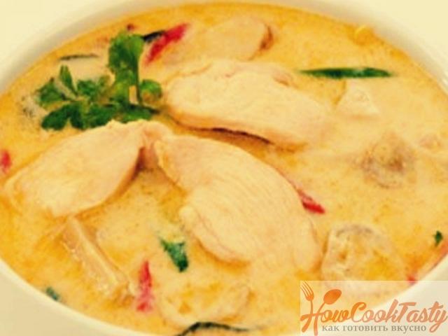 Кокосовый суп с курицей — Рецепт