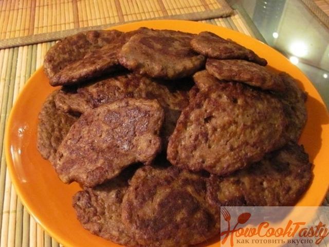 Котлеты из печени говядины