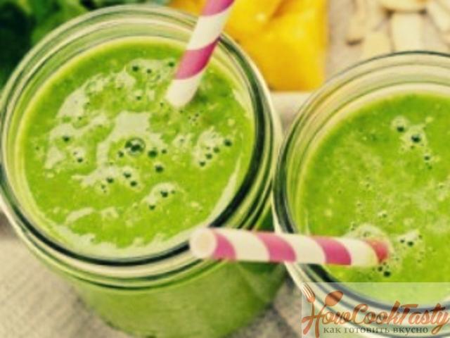 Зеленый коктейль — Рецепт
