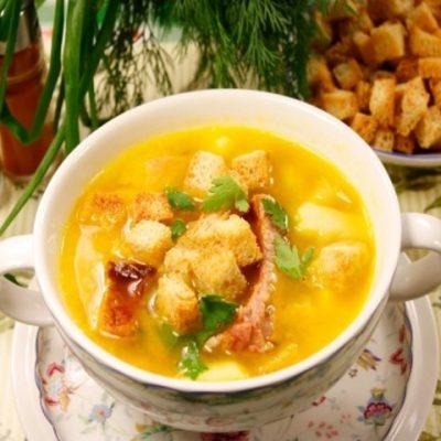 Гороховый суп с копченостями рецепт классический 2