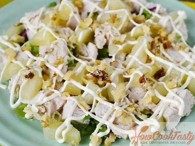 Салат по-гавайски — Рецепт