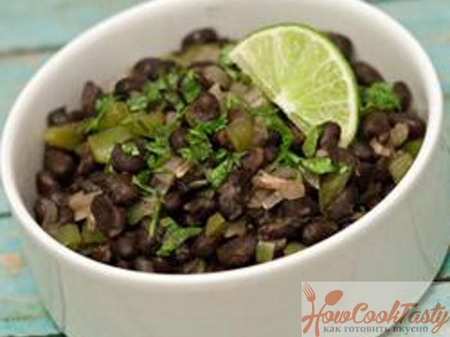 Чёрная фасоль по-кубински — Рецепт