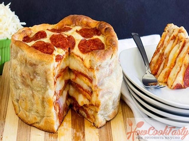 Пицца — торт