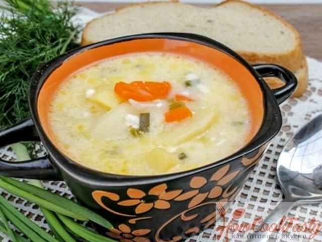 Суп из плавленных сырков — Рецепт