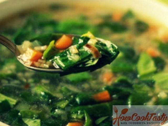 Зеленый суп с имбирем — Рецепт