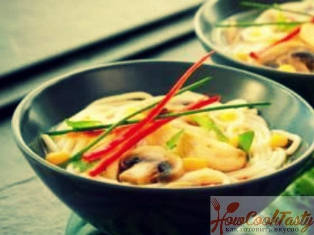 Грибной суп по-китайски — Рецепт