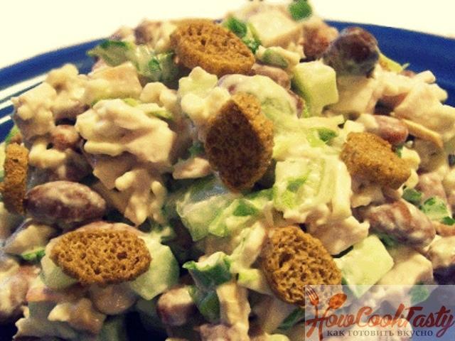 Хрустящий салат с пекинской капустой — Рецепт