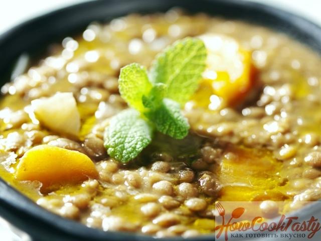 Чечевичный суп по-гречески