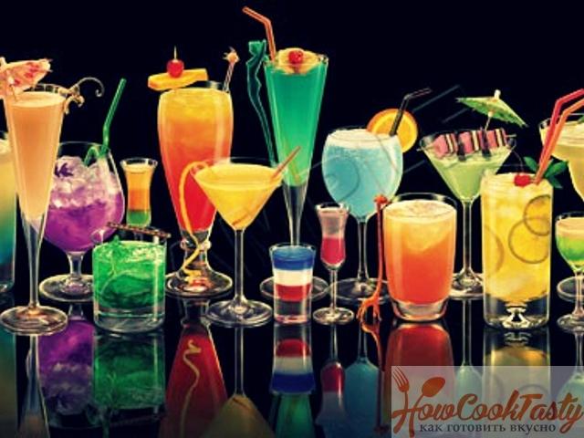 Алкогольные  коктейли — Рецепт