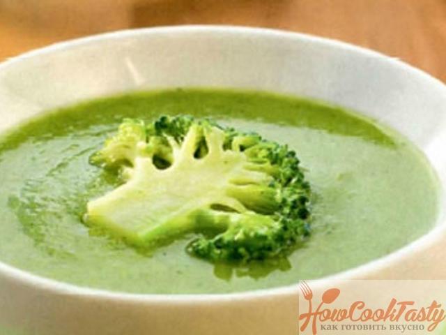 Куриный суп-пюре с брокколи