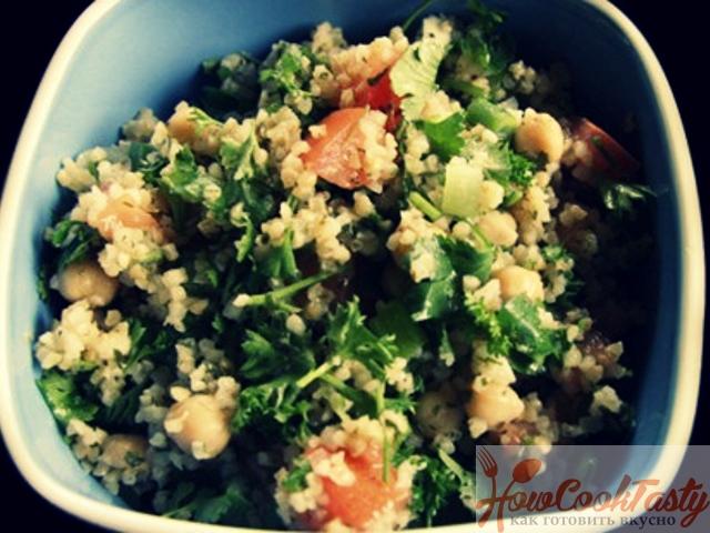 Салат из кускуса с изюмом