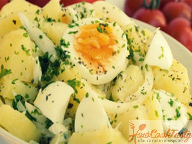 Картофельный салат с яйцами