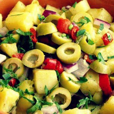 Теплый картофельный салат - Рецепт