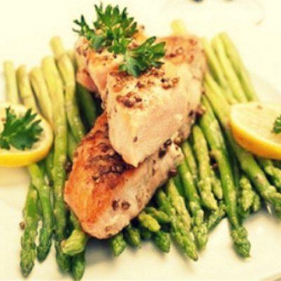 Золотистый лосось в лимонной глазури - Рецепт