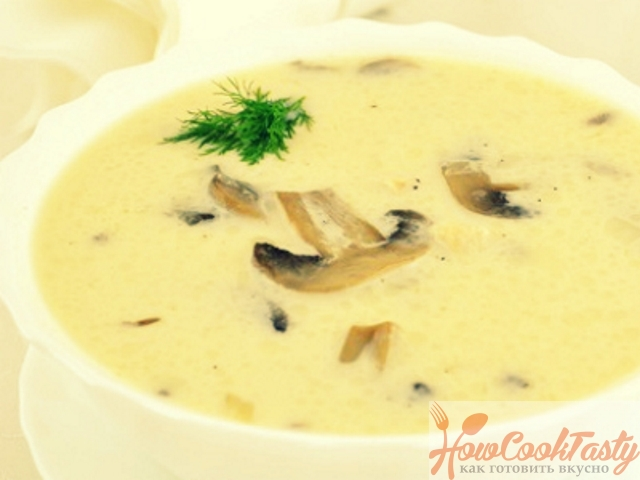 Рыбный суп с грибами и сыром — Рецепт