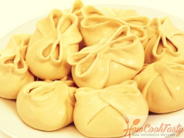Манты с картошкой и грибами