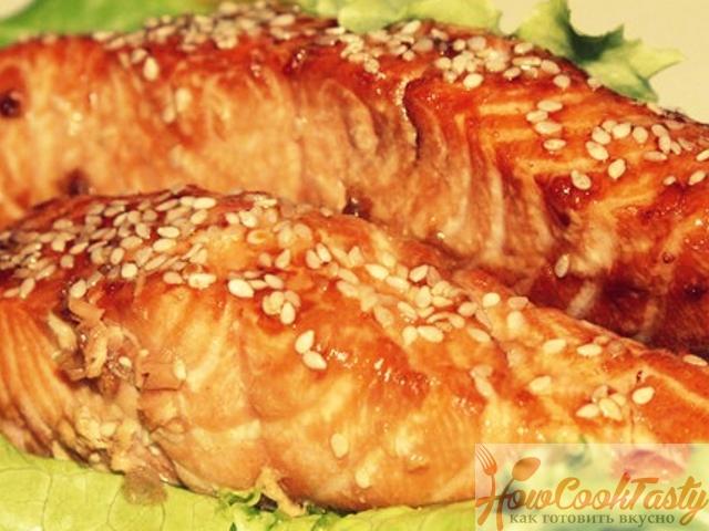 Семга в соево-медовом соусе