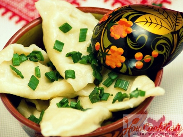 Картофельно-грибные вареники