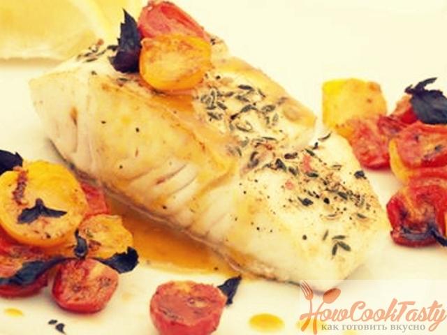 Запеченная треска под сырно-горчичным соусом — Рецепт