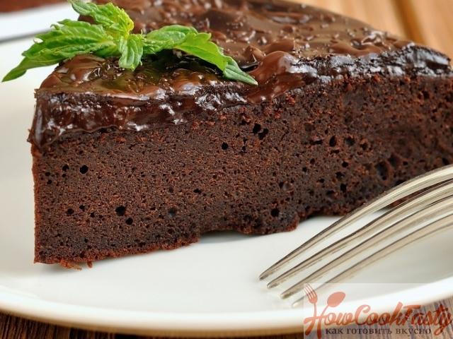 Французский шоколадный пирог