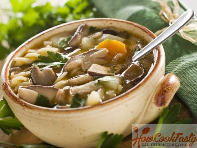 Грибной суп — Рецепт