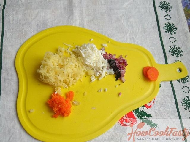 Рецепт салата «Мимоза» с рисом и рыбными консервами