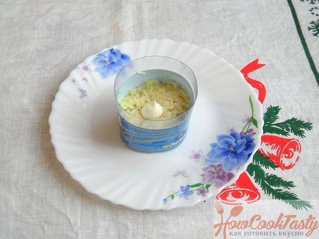 Приготовление салата «Мимоза»