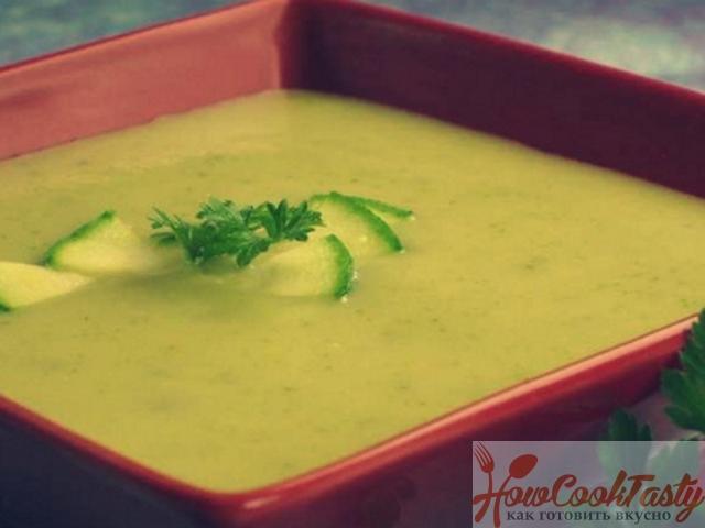 Суп-пюре из кабачков — Рецепт