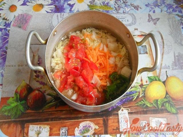 Тушеная капуста с сосисками рецепт пошагово