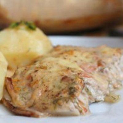 Рыба в кефирном соусе