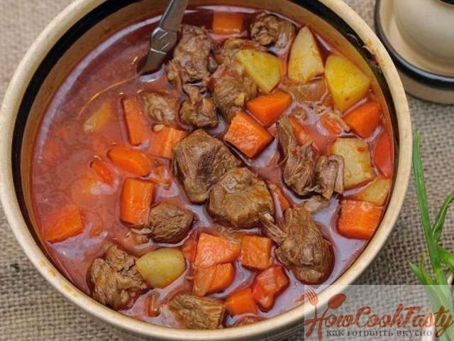 Суп гуляш венгерский классический рецепт с фото 2