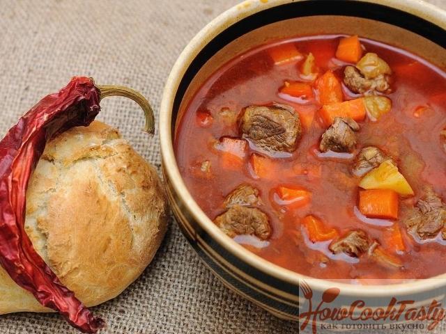 Рецепт венгерского супа гуляша из говядины 2