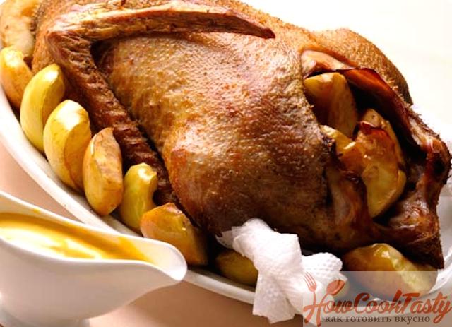 Как приготовить гуся с картошкой
