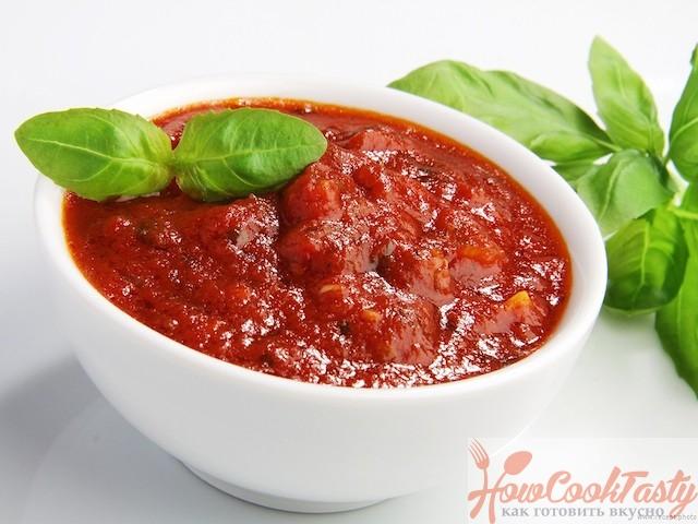 Томатный соус из свежих помидоров и бальзамического уксуса