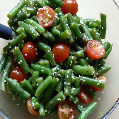 Теплый салат из стручковой фасоли - Рецепт
