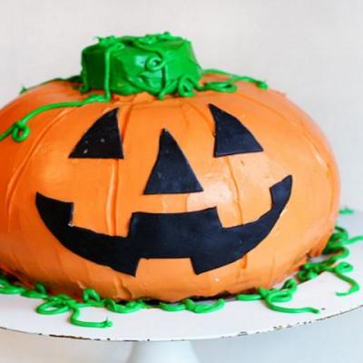 Торт «тыква» на Хэллоуин