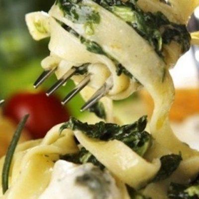 Паста с тунцом и шпинатом - Рецепт