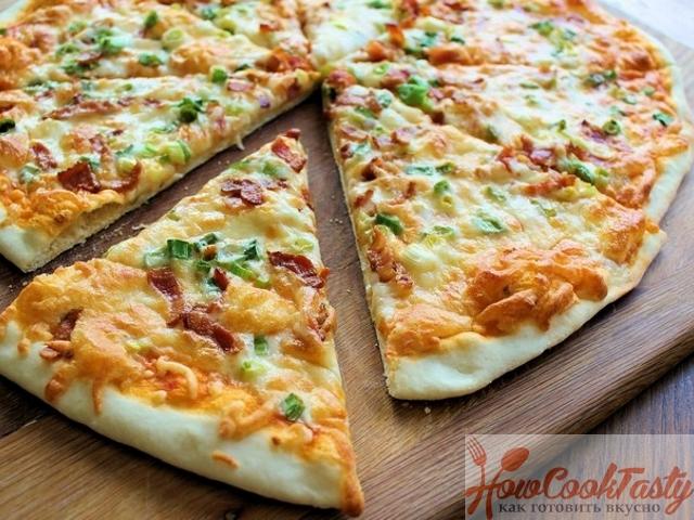 Как приготовить пиццу с колбасой — Рецепт