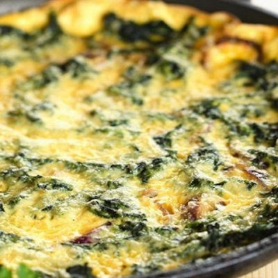 Шпинат с яйцом - Рецепт