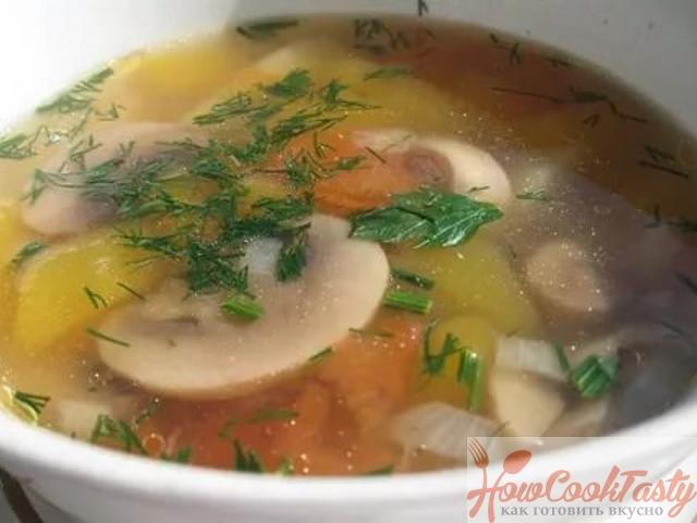 Как приготовить суп с грибами