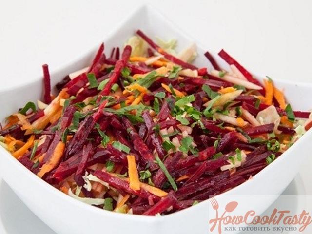 Салат на основе квашеной капусты