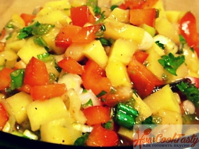 Сальса из манго и красного лука