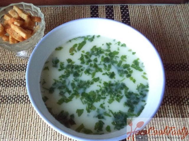 Суп-пюре с молоком