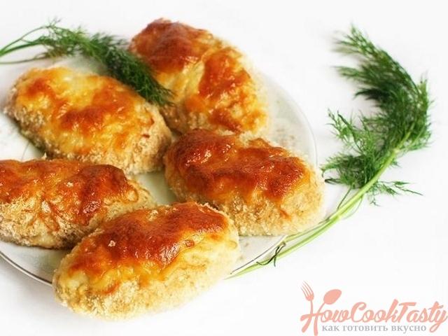 Котлеты, запеченные в духовке с сыром