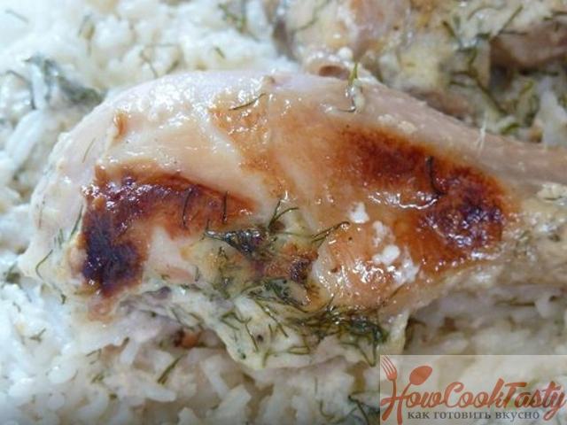 Цыпленок под сливочным соусом