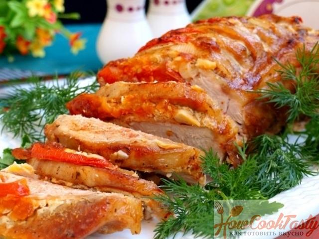 Свинина «Гармошка» (пошаговый рецепт)