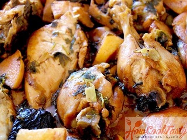Курица с сухофруктами